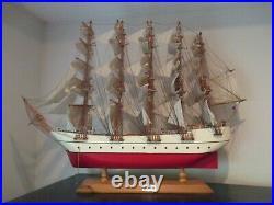 USS United States Custom Handmade Wooden Model Tall Sailing Ship Fully Assembled