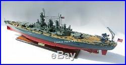 USS WASHINGTON (BB-56) Battleship Model 39 Handcrafted Wooden Model NEW
