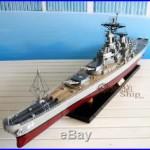 USS WISCONSIN (BB-64) Iowa Class Handcrafted War Ship Display Model 39 NEW
