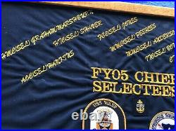 USS Wasp LHD-1 Squadron 4 FY05 Chief Selectees Plaque Old School New Sting