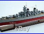 USS Wisconsin BB-64 Iowa-class Battleship Cruiser Wooden Ship Model Scale 1250