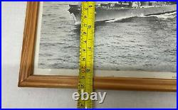 USS Wisconsin BB-64 Official USN Photo Black and White Photo FRAMED 9x10.5