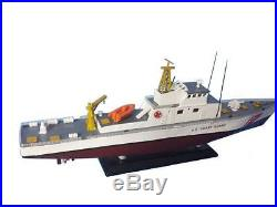 United States Coast Guard USCG Coastal Patrol Boat 18 Wooden Model Assembled