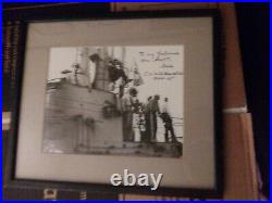 Uss Hawkbill 366 1944-45 Signed By Captain To Son. Hero Sub An Captain! Only One