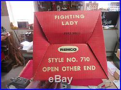 VINTAGE # 856 FIGHTING LADY MOTORIZED ASSAULT NAVY BATTLESHIP BY REMCO # 710