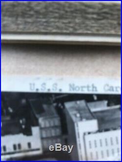 VINTAGE USS North Carolina Wilmington NC Framed Original picture