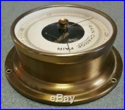 VTG Taylor US Navy Brass Ship Nautical Rain Change Fair Barometer Compensated NR
