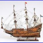 Vasa 1628 Wasa Swedish Warship Handmade Tall Ship Model 38 T102