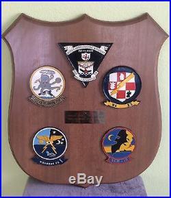 Vietnam Captain's Submarine & Ship Plaque VS-32, HSC-5, CVSG 54, VAW-12, VS-22
