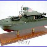 Vietnam War PBR riverboat US Navy display mahogany wood custom model boat