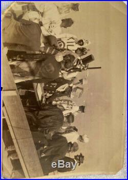 Vintage 1900 1920 US Navy ship Crossing the Equator Celebration WWI Neptune