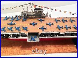 Vintage 1950s USS Rosevelt CVB-42 Aircraft Carrier Hobby Pro Built Display Model