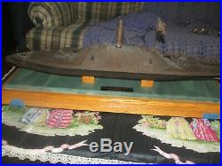 Vintage 29 inch William McGrath cold resin civil war ironclad, model, sculpture