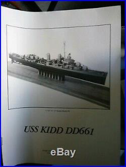 Vintage BlueJacket Ship Crafters FLETCHER CLASS DESTROYER USS KIDD DD 661