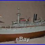 Vintage Germany battleship tin toy