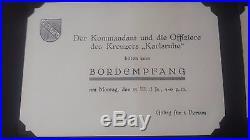 Vintage Karlsruhe German Cruiser WWII Special Ship Photos + Invitation Rare Lot