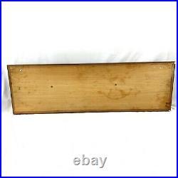 Vintage Large Mahogany Half Hull Boat Wood Model Nautical Decor Handmade 39