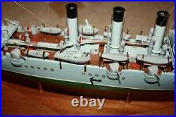 Vintage Legendary Soviet Russian Cruiser Aurora DeskTop Model Boat Ship USSR