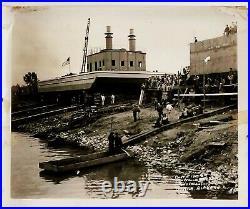 Vintage Lot 54 Photos 1941-43 Ingalls Shipbuilder Decatur Alabama Barges WWII