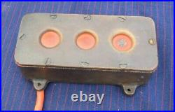 Vintage Maritime Heavy Brass Electric 3 Button Switch 6.25 x 2.75 x 1-7/8 inch