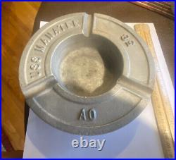 Vintage Metal Ashtray Plaque Uss Manatee Ao-58 Look