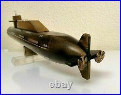 Vintage Soviet Submarine Ebonite USSR Navy Museum Model 43-44 cm. Rare