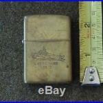Vintage U. S. S. Missouri BB 63 Brass ZIPPO Lighter 1932-1986