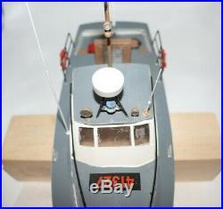 Vintage US Coast Guard Boat Wood Model Completed