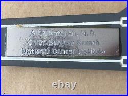 Vintage USS ENTERPRISE Cast Metal Aircraft Carrier, A. S. Ketcham M. D, 17Length