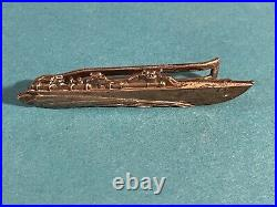 Vintage WWII PT Boat Tie clip, Elco Naval Division, sterling