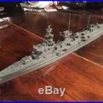 Vintage WWII Wooden Recognition Model Battleship Ship Nuernberg Nuremberg Comet
