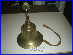 Vintage brass US Navy Bell (complete) exc cond 7 1/4 diameter