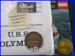 Vintage1959 Revell USS Olympia Model With Bronze Propeller Token Kit #H-367 S