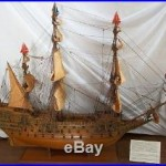 Vtg built tall ship model of famous 1627 English warship Sovereign of the Seas