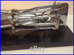 WW I Submarine Model Reproduction Desktop Chrome Marble