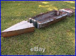 WW1 Military Pontoon Bridge Boat Three Piece Dovetailed Sectiions RARE