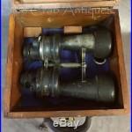 WW2 German Kriegsmarine U-Boat U-Boot Leitz Wetzlar 7x50 Binoculars in Box Case