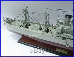 WW2 Liberty Ship Jeremiah O'Brien Model 35 Handcrafted Wooden Model NEW