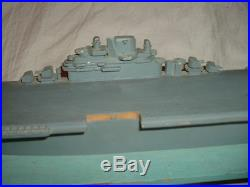 WW2 SHIP RECOGNITION MODEL ESSEX CLASS CARRIER 21 IN. O. A. L