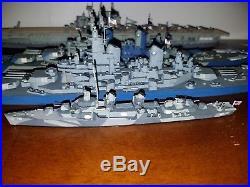 WW2 US American Naval Fleet Pro Built Painted Model Kits 4 ships total