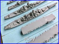 WW2 US Navy Framburg Recognition Ship Models Saratoga Enterprise Iowa Alaska Box