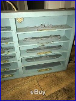 WW2 US Navy Ship Recognition Models Metal Miniature Set of 48