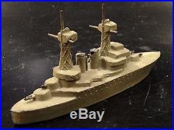 WWI US Navy Battleship USS California Toy Boat Ship Metal Antique WWII n1