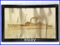 WWI USS George Washington July 25, 1919 Atlantic Crossing Framed Photograph