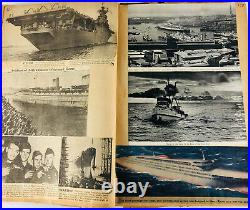 WWII American NAVAL Scrapbook WW2 Newspaper Clippings Collection Chris Craft