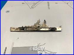 WWII Battleship Pin BB-72 rare old vintage