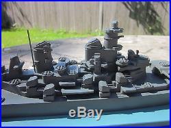 WWII FRAMBURG 1945 USN METAL RECOGNITION SHIP MODEL IOWA CLASS USBB With ORIG. BOX