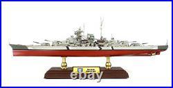 WWII German Bismarck battleship 1/700 diecast model ship FOV