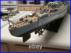 WWII German battleship Graf Spee Wooden Ship Model 40 long awesome detail