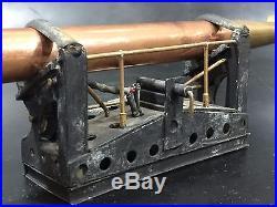WWII Large Torpedo Model Brass Copper Motorized Battery Trench Art Antique e50